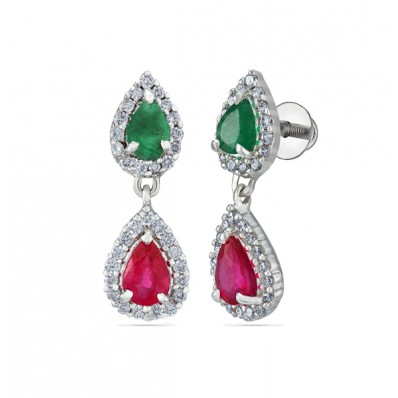 Dual Color Matching earring