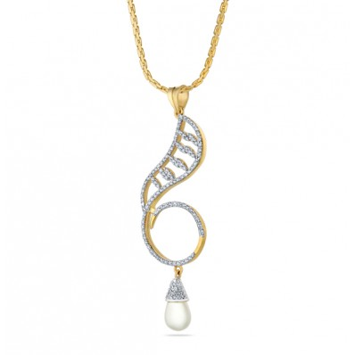 Tear Drop Pendant with Pearl