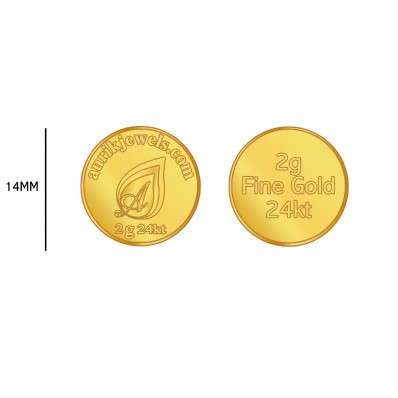 2 Grm, 24Kt, Pain Gold Coin