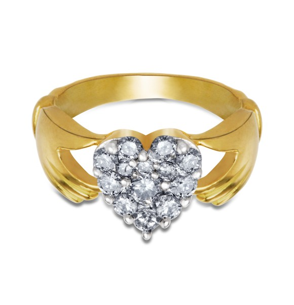 Gold Rings with Diamond by Aurik Jewels