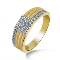 Round shape gold and diamond ring