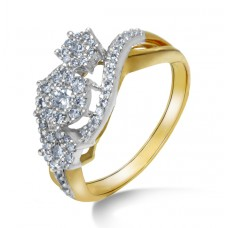 A delicate knot in gold and diamond